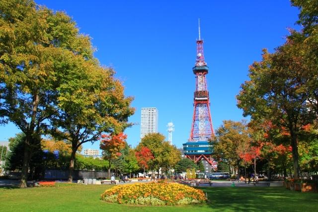 札幌市のシンボルであるテレビ塔と大通公園