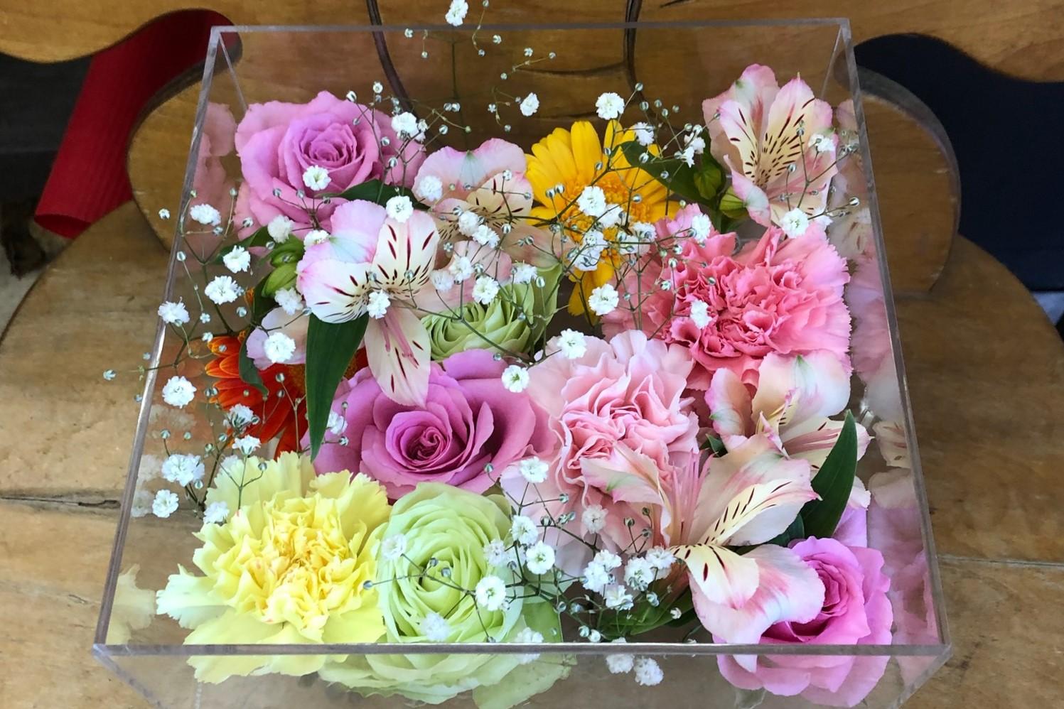 死んだペットに手向けるカーネーションや薔薇などの花々