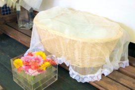 ペット用のお別れ生花と棺
