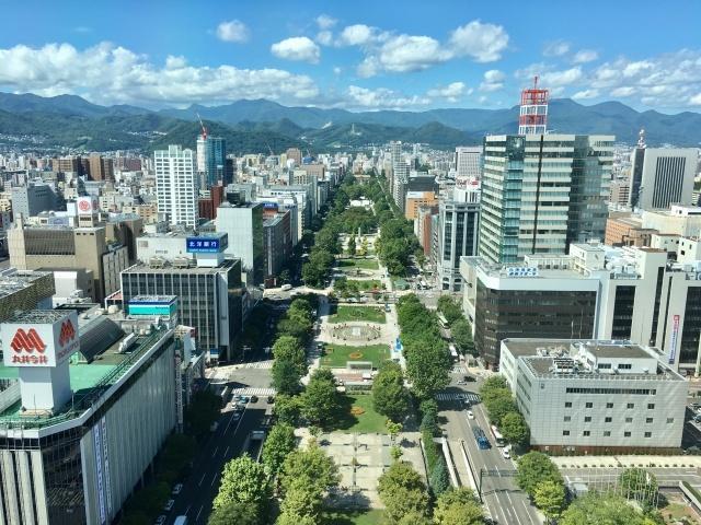 高層から撮影した札幌大通公園